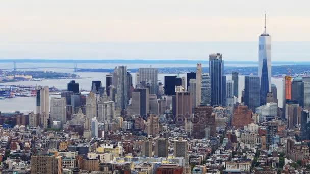 4 k Ultrahd letecké timelapse anténu v centru Manhattanu