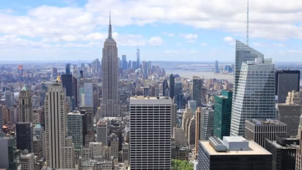 4K UltraHD Timelapse aerial of midtown Manhattan, New York