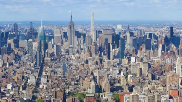 4 k Ultrahd letecké timelapse midtown Manhattan, New York oblast
