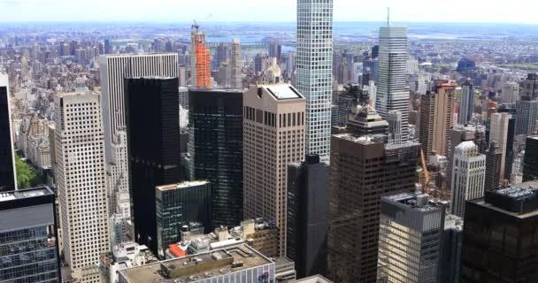 4 k Ultrahd letecký pohled Midtown New York