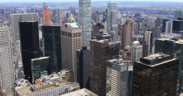 4 k Ultrahd a légi felvétel a Midtown New York-i skyline