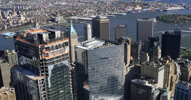 4 k Ultrahd letecký pohled Převrhnutí Manhattan