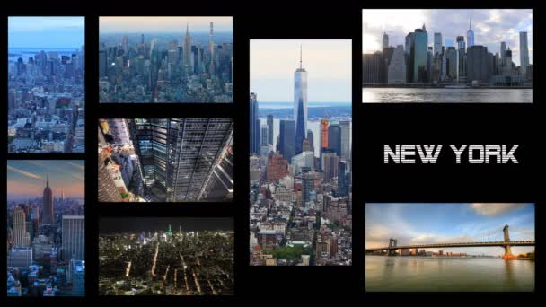 4 k Ultrahd New York, Video koláž s černým pozadím