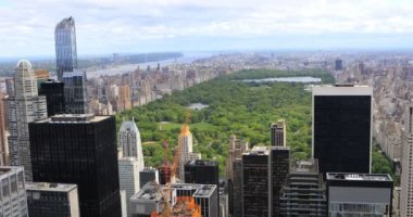 4K UltraHD Aerial View Of Midtown Manhattan And Central Park
