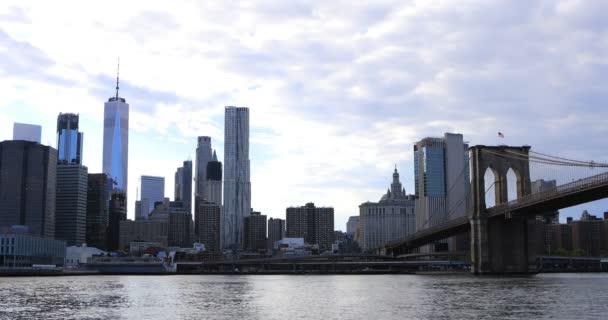 4 k Ultrahd dolní Manhattan a Brooklyn Bridge