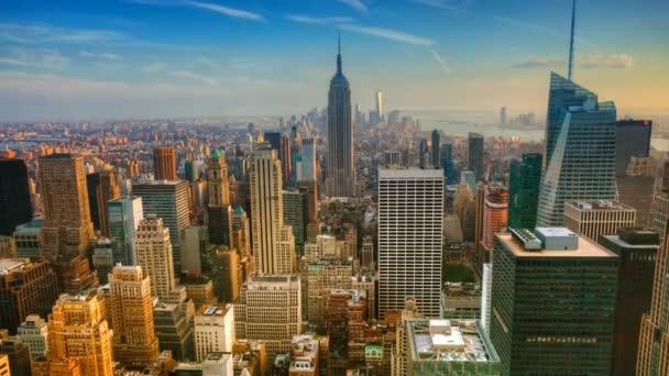 Anténa timelapse stmívání v Manhattanu 4k
