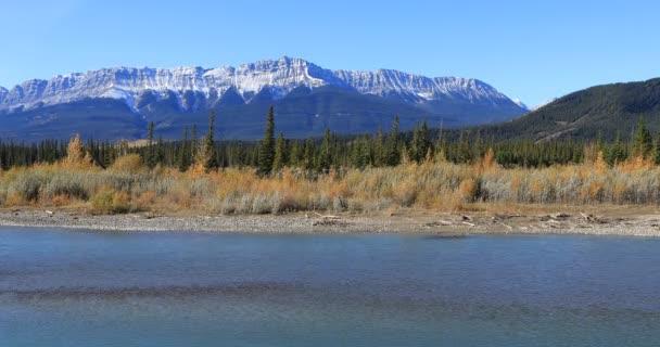 athabasca Fluss in den felsigen Bergen bei Jaspis 4k