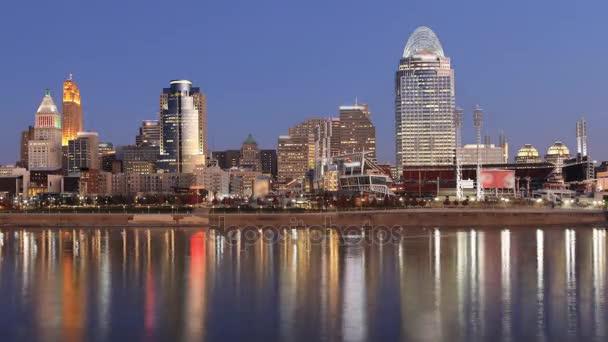 Cincinnati skyline timelapse ad alba 4K