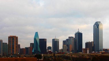 The skyline of Dallas during daylight