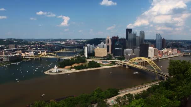 Timelapse antény Panorama Pittsburgh 4k