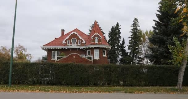 Prince Albert, Saskatchewan, Kanada - 26. září 2019: Hrad s klíčovou dírkou v Prince Albert, Saskatchewan, Kanada 4k, 26. září 2019, Prince Albert