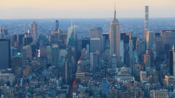 Looping day to night timelapse of New York, New York, United States 4k