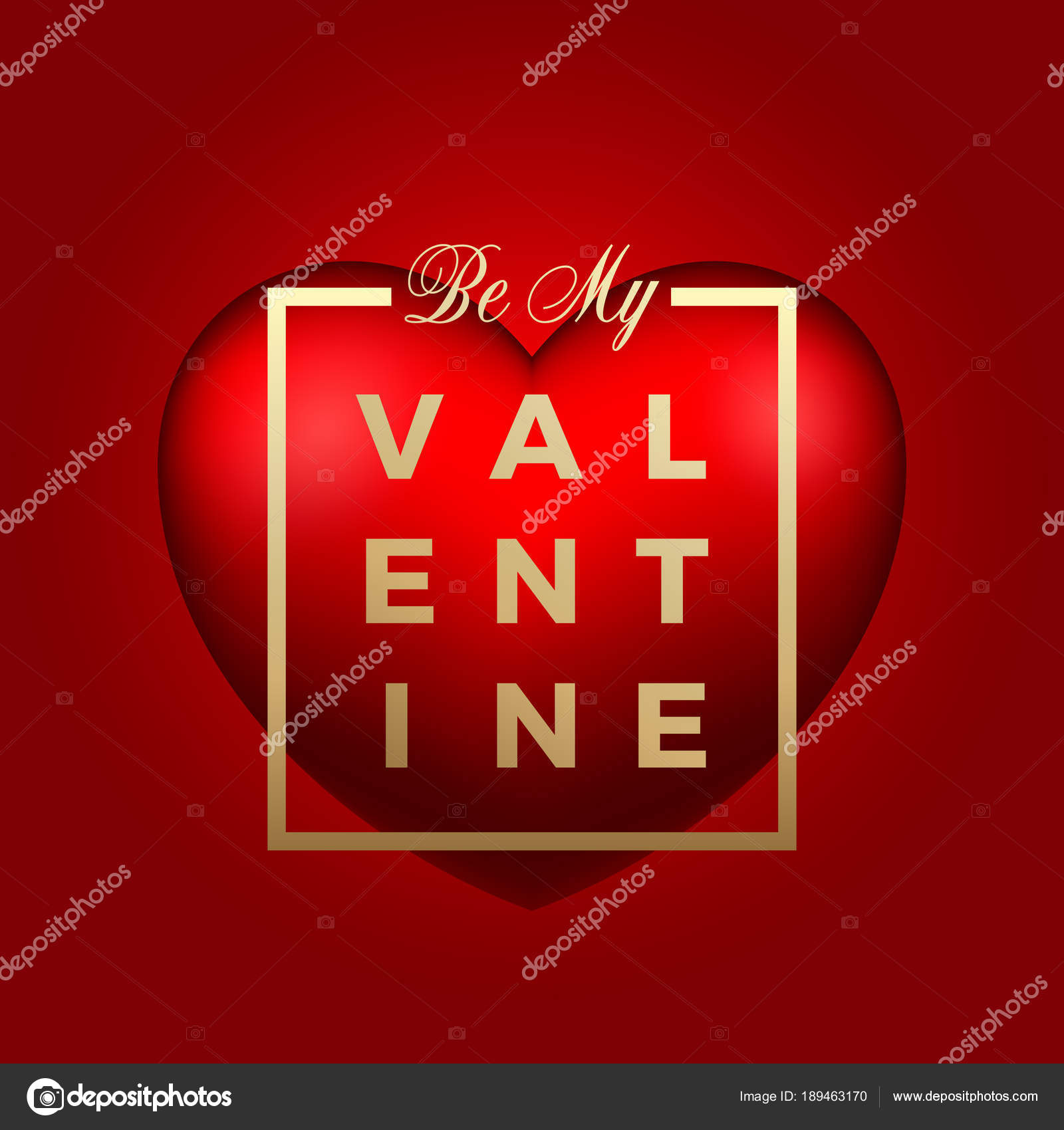Red heart vector on background golden modern typography valentines golden modern typography valentines day greetings in a frame m4hsunfo