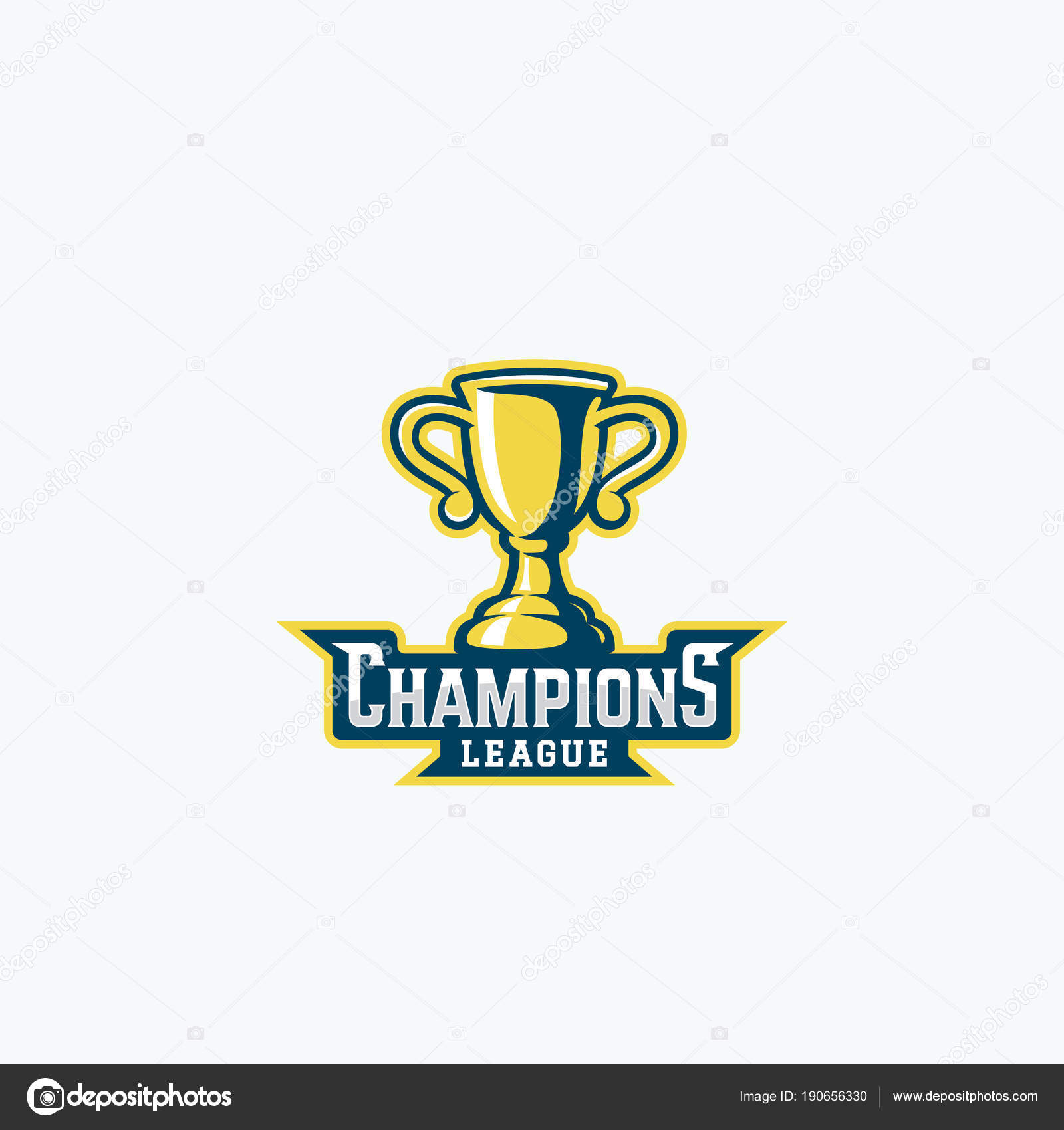 Champions League Trophy Vector Champions Leagu...