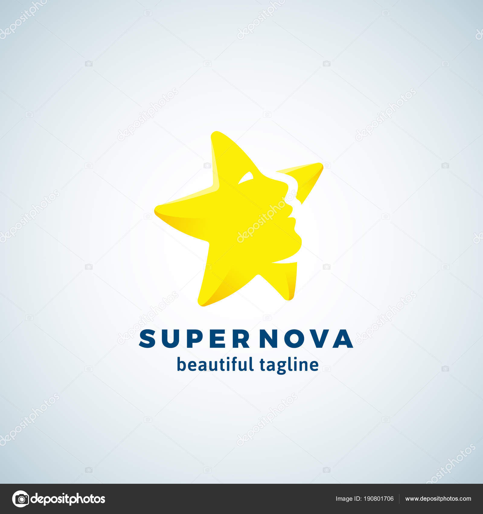 super nova abstract vector sinal emblema ou modelo de logotipo
