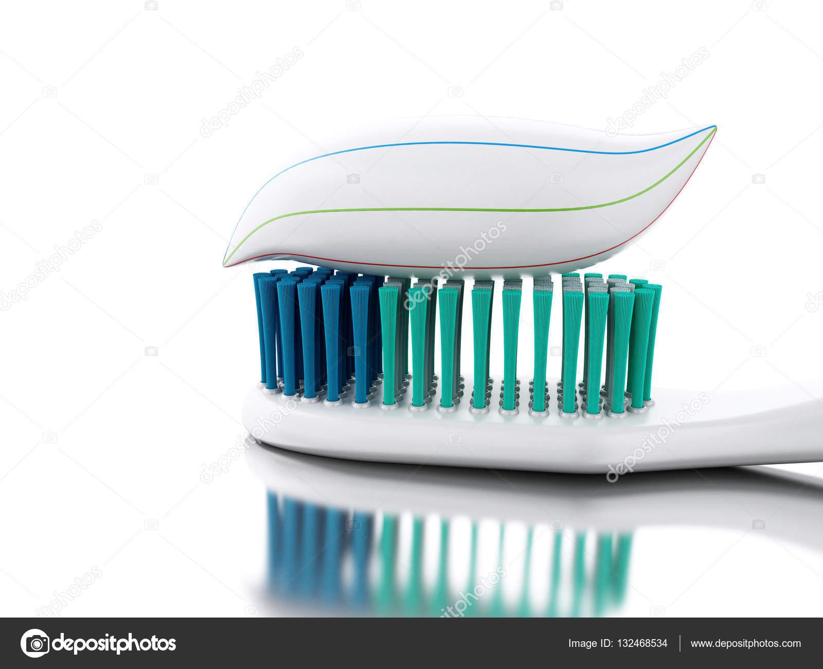 3D Cepillo De Dientes Con Pasta Dental