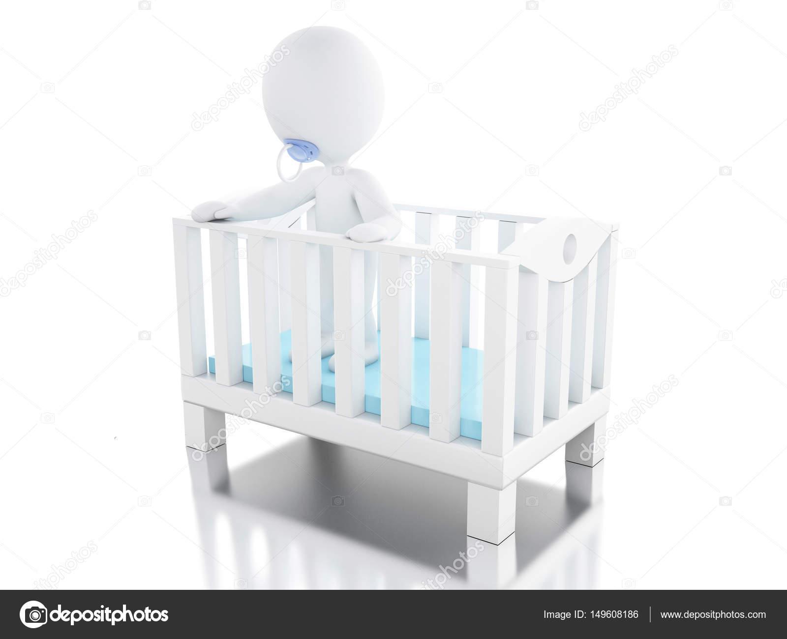 3d Caracter De Recien Nacido En Cuna Fotos De Stock C Nicomenijes - Cunas-recien-nacidos