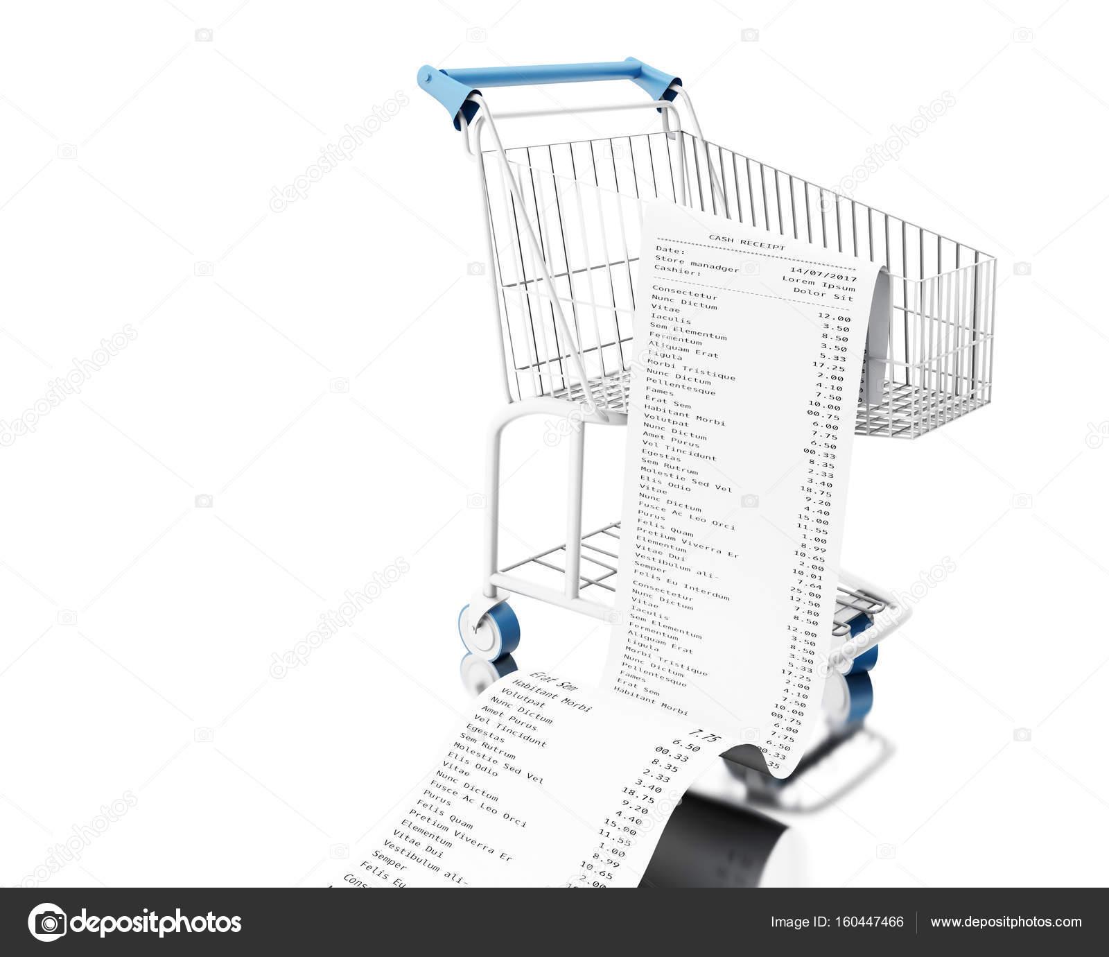3D Shopping Cart mit Geldeingang — Stockfoto © nicomenijes #160447466