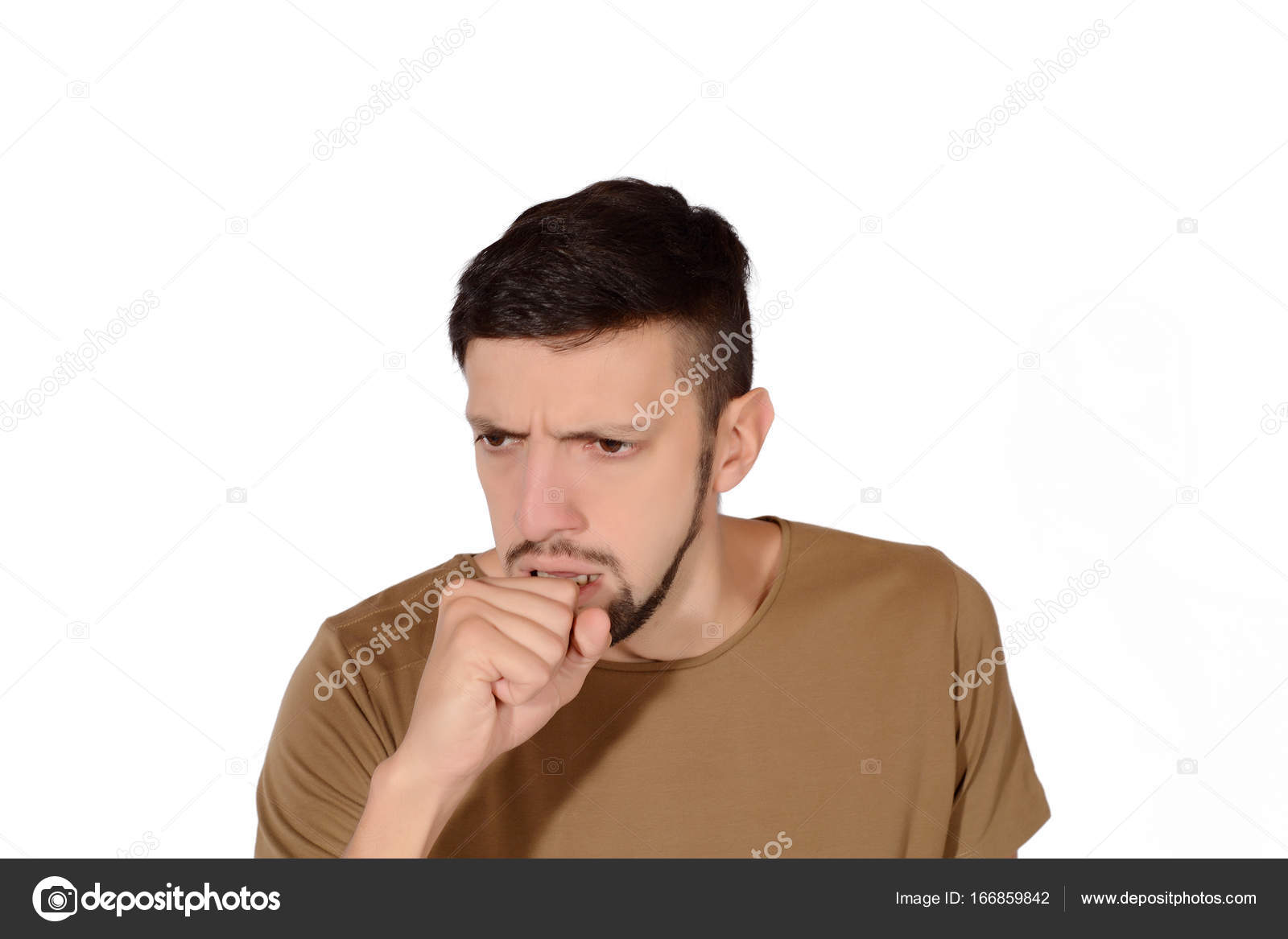 Image result for young man coughing stock photo