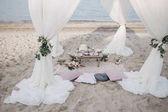 Svatební prostírání na pláži