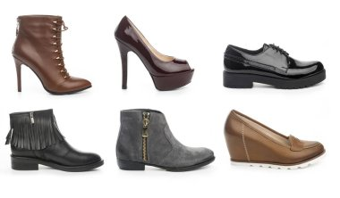 Collection of female shoes