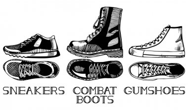 Sport casual shoes set