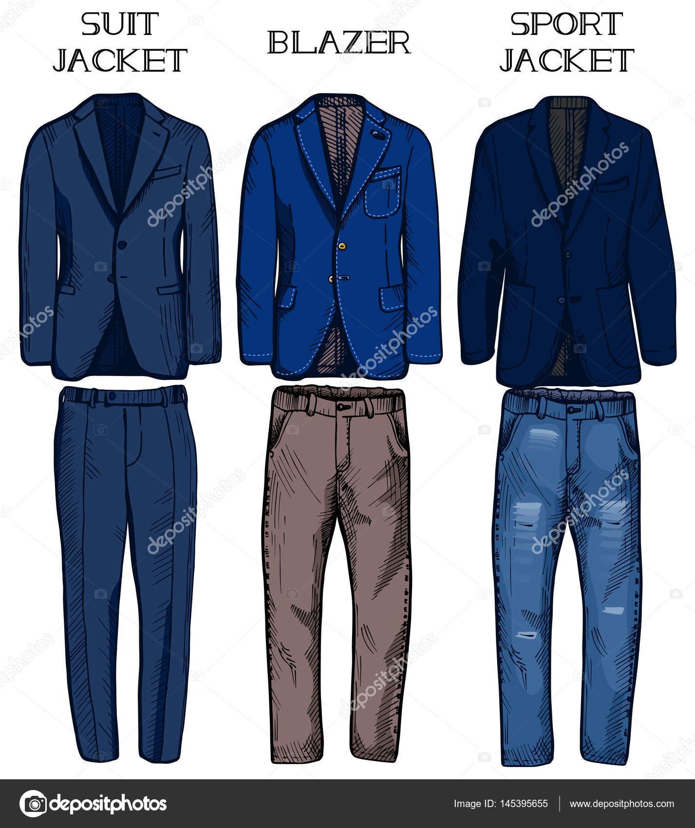 migliori scarpe da ginnastica fdcdb f8cc1 Vestito giacca, giacca, giacca sportiva — Vettoriali Stock ...