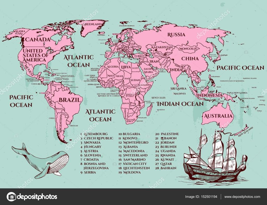 Mundial map vectorial vector de stock istryistry 152501194 mundial map vectorial vector de stock gumiabroncs Choice Image