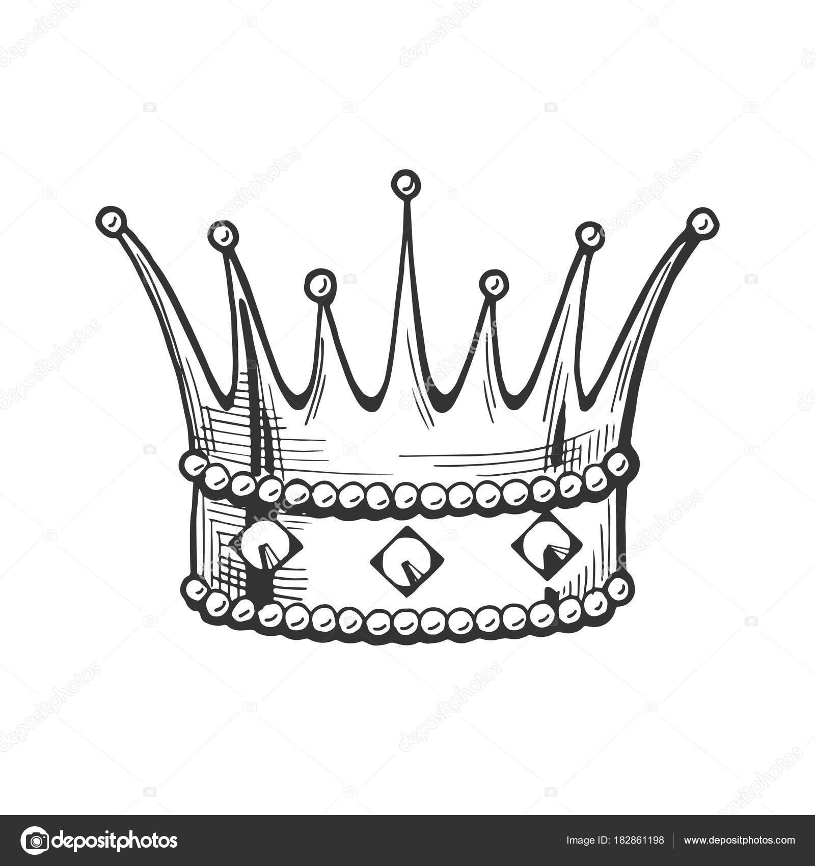 Coronas De Reyes Para Dibujar Icono De La Corona Del Rey Vector