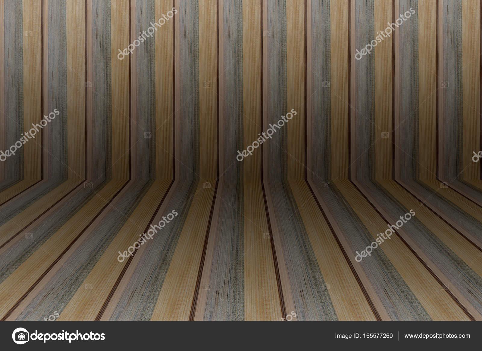 Wand Und Boden Braun, Grau Und Gelb Holz Für Hintergrund U2014 Stockfoto