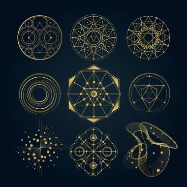 Sacred geometry forms, shapes of lines