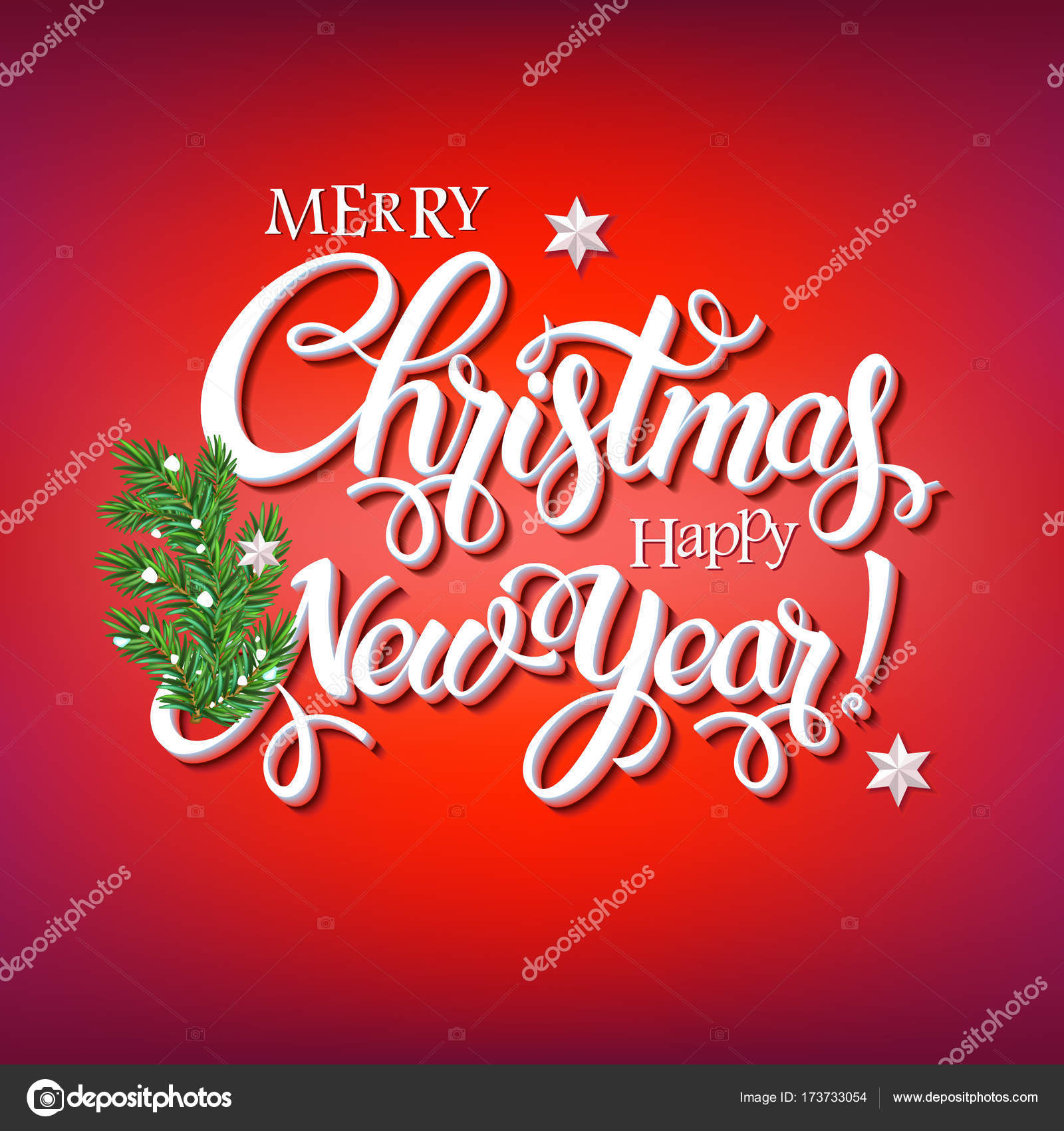 Merry Christmas Poster 2018.Merry Christmas 2018 Decoration Poster Card Stock Vector