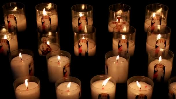 Votive candles, in the Notre Dame cathedral, Rouen, Seine Maritime, France