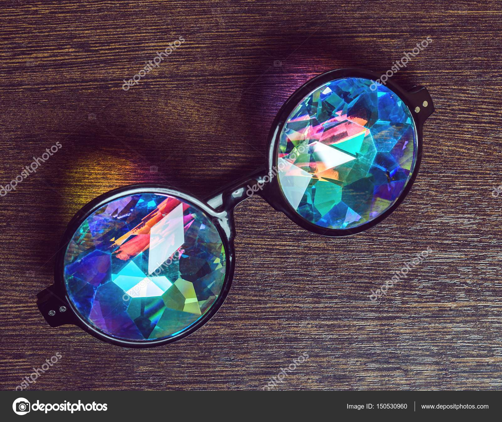 Designer Brillen mit Kaleidoskop-Objektive — Stockfoto ...