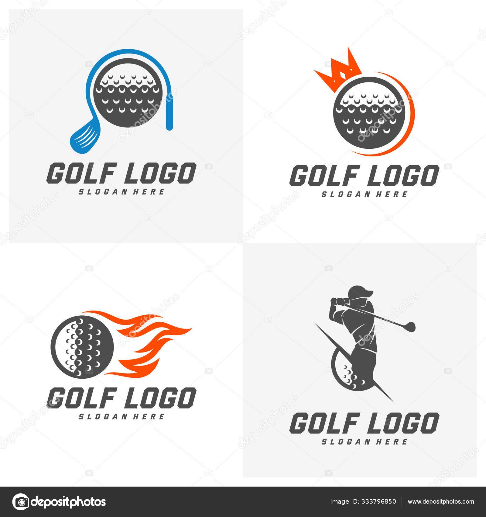 Set Of Golf Logo Design Vector Template Vector Label Of Golf Logo Of Golf Championship Illustration Creative Icon Design Concept Stock Vector C Ssports 333796850