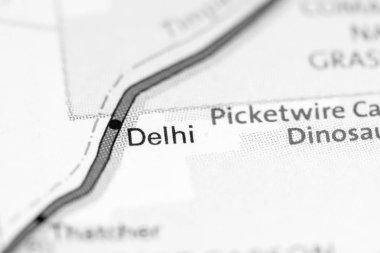 Delhi. Colorado. USA on a map