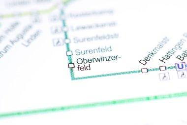 Oberwinzerfeld Station. Bochum Metro map.