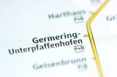 Fotografie Germering-Unterpfaffenhofen. Münchner Stadtplan.
