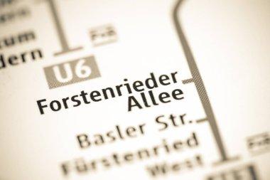 Forstenrieder Allee Station. Munich Metro map.