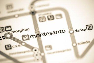 Montesanto Station. Naples Metro map.