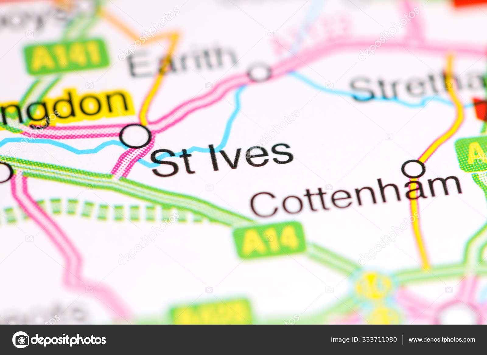 Picture of: St Ives United Kingdom On A Map Stock Photo C Aliceinwonderland2020 333711080