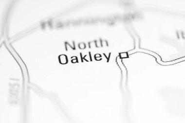 North Oakley. United Kingdom on a geography map