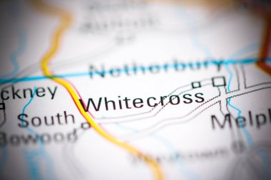 Whitecross. United Kingdom on a geography map