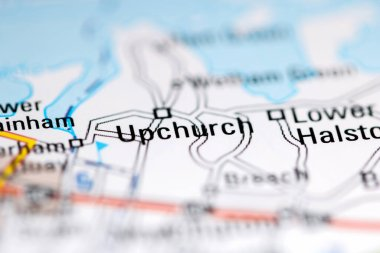 Upchurch. United Kingdom on a geography map