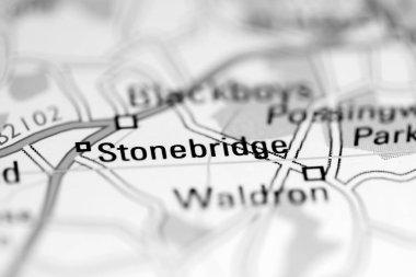 Stonebridge. United Kingdom on a geography map