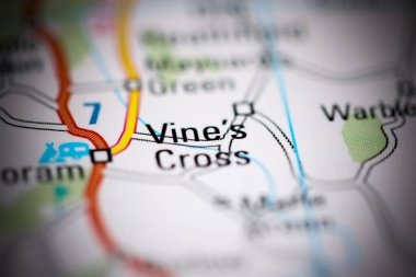 "Картина, постер, плакат, фотообои ""vine 's cross. великобритания на географической карте "", артикул 359461924"