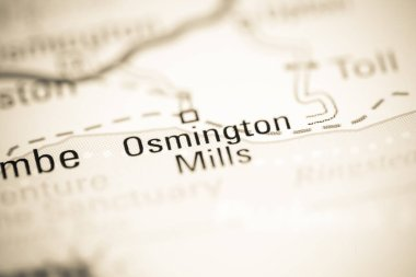 Osmington Mills. United Kingdom on a geography map
