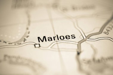 Marloes. United Kingdom on a geography map