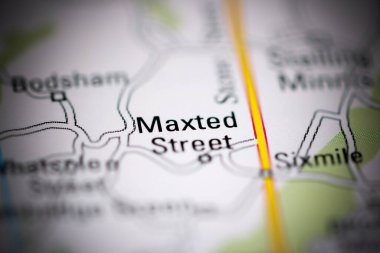 Maxted Street. United Kingdom on a geography map