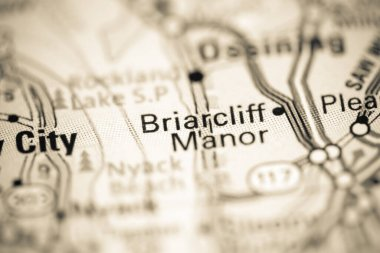 Briarcliff Manor. New York. USA on a geography map